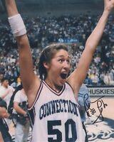 REBECCA LOBO SIGNED UCONN UNIVERSITY OF CONNECTICUT BASKETBALL WNBA 8X10 PHOTO