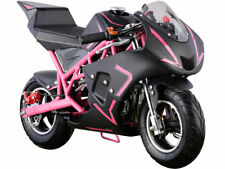 Outdoor 4 Stroke 40Cc Pink Boys Girls Mini Ride On Motorcycle Gas Pocket Bike