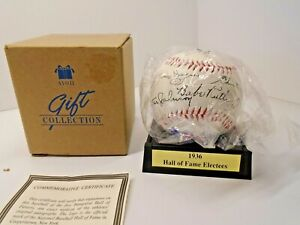 Vintage AVON 1936 HALL OF FAME Commemorative Baseball w/ Display Stand 1996