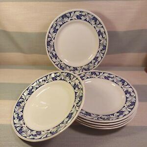 "WEDGWOOD OF ETRURIA & BARLASTON BLUE LAUREL DINNER PLATE 10"" X6"