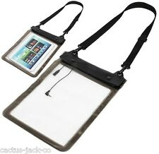 WATER WEATHER RESISTANT CLEAR SLEEVE WITH SHOULDER STRAP, FOR TABLETS TO 10.1""