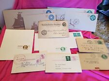 1893-1964 POSTCARDS USED AND UNUSED SEAFARING TRADITION ENVELOPES 10c 13c  LOT