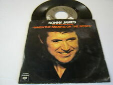 Sonny James When The Snow Is On The Roses/Love Is A Rainbow 45 RPM Columbia