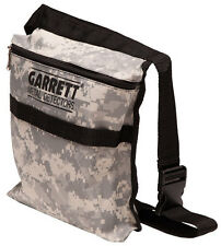 Garrett Canvas Camo Finds Pouch for Metal Detecting with Adjustable Belt