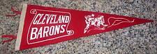 RARE!! 1940's Cleveland Barons AHL Hockey Soft Felt Pennant Red