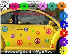 25 peace sign SET Car Any Auto volkswagen tail light Bright Rainbow VW bug USA