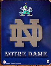 "NCAA Football Notre Dame 8.5"" x 11"" Plastic Wall Street Sign New"