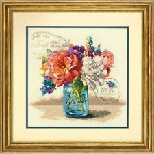 DIMENSIONS  70-35334  Bouquet de jardin  Kit  Broderie  Point de croix