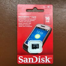 Nuovo Sandisk Sd 16GB SDHC Memory Card Cellulare Telefono Tablet Fotocamera 16