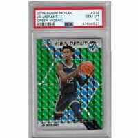 Ja Morant RC 2019-20 Panini Mosaic Green NBA Debut Memphis Grizzlies #274 PSA 10