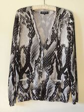Jones New York Collection Cardigan Sweater Misses XL Black Gray White  MINT