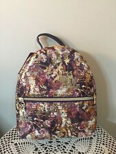 NWT Sonia Kashuk Purple Gold Foil Cosmetic Backpack Makeup Case Travel Bag