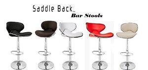 Saddleback Modern Adjustable Height Swivel Bar Stool (Set of 2)
