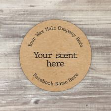 37mm Personalised Wax Melts Stickers, Soy Candle Stickers, Fast Delivery