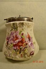 """Antique """"Stoke on Trent"""" Biscuit Barrel Staffordshire  Bros Trade Mark Gorgeous"""