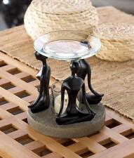 Modern Art YOGA girl zen pose statue candle Wax tart Oil warmer Burner diffuser