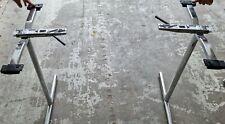 More details for chrome folding table legs - pair- make your own folding table, boat table, table