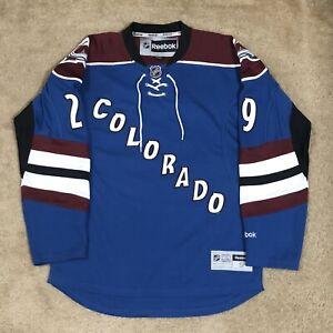 Reebok Nathan MacKinnon Colorado Avalanche NHL Hockey Jersey Blue Alternate S