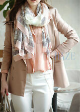 New Women Long Cotton Scarf Wrap Ladies Shawl Girls Large Silk Scarves UKK
