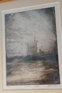 Paul Ritchie (Scottish Artist) framed Etching, Stalker Castle Scotland
