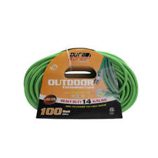 DuraDrive 11719 100 ft. 14/3 SJOW Single Tap Lighted Extension Cord