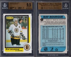 BGS 9.5 1986-87 O-Pee-Chee #1 Ray Bourque POP7 Boston Bruins G00 1817