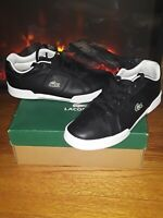 🔥l Lacoste MEN 10.5 Black @ White CLEAN wore About 4 Or 5 Times  Very Clean🔥
