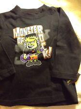 New Toddler Halloween LS Black Shirt Frankenstein Size 18 Months