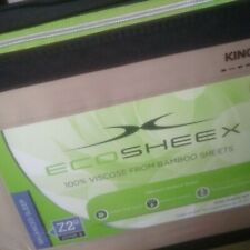 Eco Sheex King Sheet Set  Taupe 100% Viscose Bamboo Natures Softest New