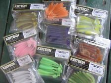 "KEITECH Lures Swing Impact 4"" 8 pcs JAPAN Strong scented Drop Shot jig Tackle"