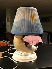 Porcelain Baby Moon Lamp With Shade