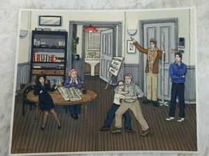 Seinfeld Happy Festivis Nicole Gustaffson Limited to 100 Fine Art Print
