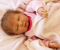 "20"" Realistic Reborn Doll Baby Lifelike Sleeping Vinyl Silicone Newborn Xmas Toy"