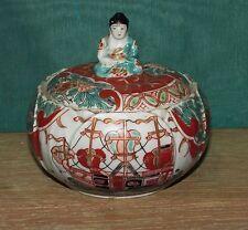 Very Rare Japanese Black Ship Imari Porcelain  Covered Dish 1700's