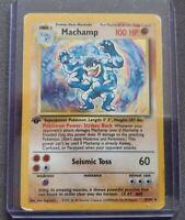 Machamp 1st Edition Holo Pokemon Card, 8/102, Base Set, Rare, Wizards, WOTC
