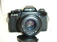 MINOLTA X-570 35mm SLR Film Camera with MD 50mm f/ 1.7 lens Kit ,  Sn9025018