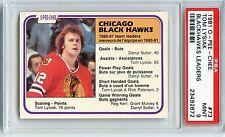 1981 O-PEE-CHEE #73 TOM LYSIAK BLACKHAWKS POP 7 PSA 9 ONLY 3 HIGHER