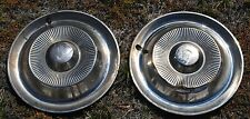 Citroen DS hubcaps (2) rare ribbed Pallas style
