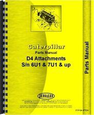 Caterpillar D4 Crawler Attachments Parts Manual Catalog Sn# 6U1 7U1 & Up