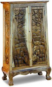 Solid Wood Wardrobe 39 3/8in Dresser Thai Living Room Hallway Furniture
