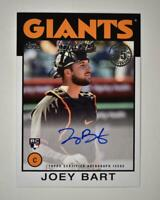 2021 Series 1 1986 Topps Baseball Auto #86A-JB Joey Bart RC