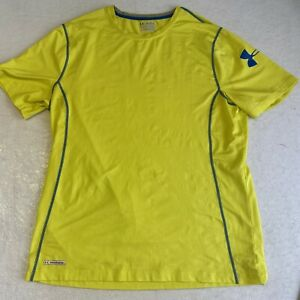 Under Armour Heat Gear Compression Athletic Fit T-Shirt Men's 2XL XXL Yellow