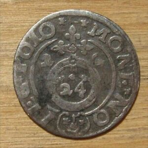 Antique Required Valuable Lithuanian Silver Coin Zygimantas III Vaza (#2), 1622.