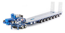 AUSTRALIAN Heavy Haulage Drake 7x8 Steerable & Dolly Blue Metallic ZT09076 1:50