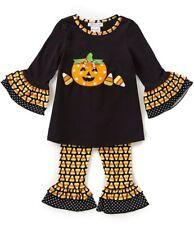 Bonnie Jean Baby Girl Halloween Pumpkin & Candy Corn Leggings Set  24M