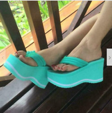 High Heels Womens Flip Flops Summer Sandals Platform Wedges Slippers shoes Thong