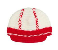 NEW Baseball Boys White Crochet Cap Hat 1-4 Years