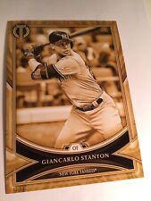 2018 Topps Tribute Jumbo 5x7 Giancarlo Stanton Yankees 40 Gold 09/10