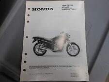 OEM Honda 1996 CB750 Nighthawk Factory Set Up Instruction Manual