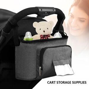 Baby stroller storage bag Mummy Bottle Cup Holder Pushchair Organiser Buggy Pram